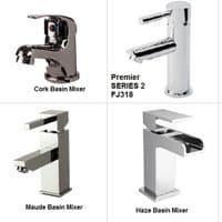 NUIE 1350mm Bathroom Furniture  650mm Basin White Vanity Unit 350mm Linen Basket